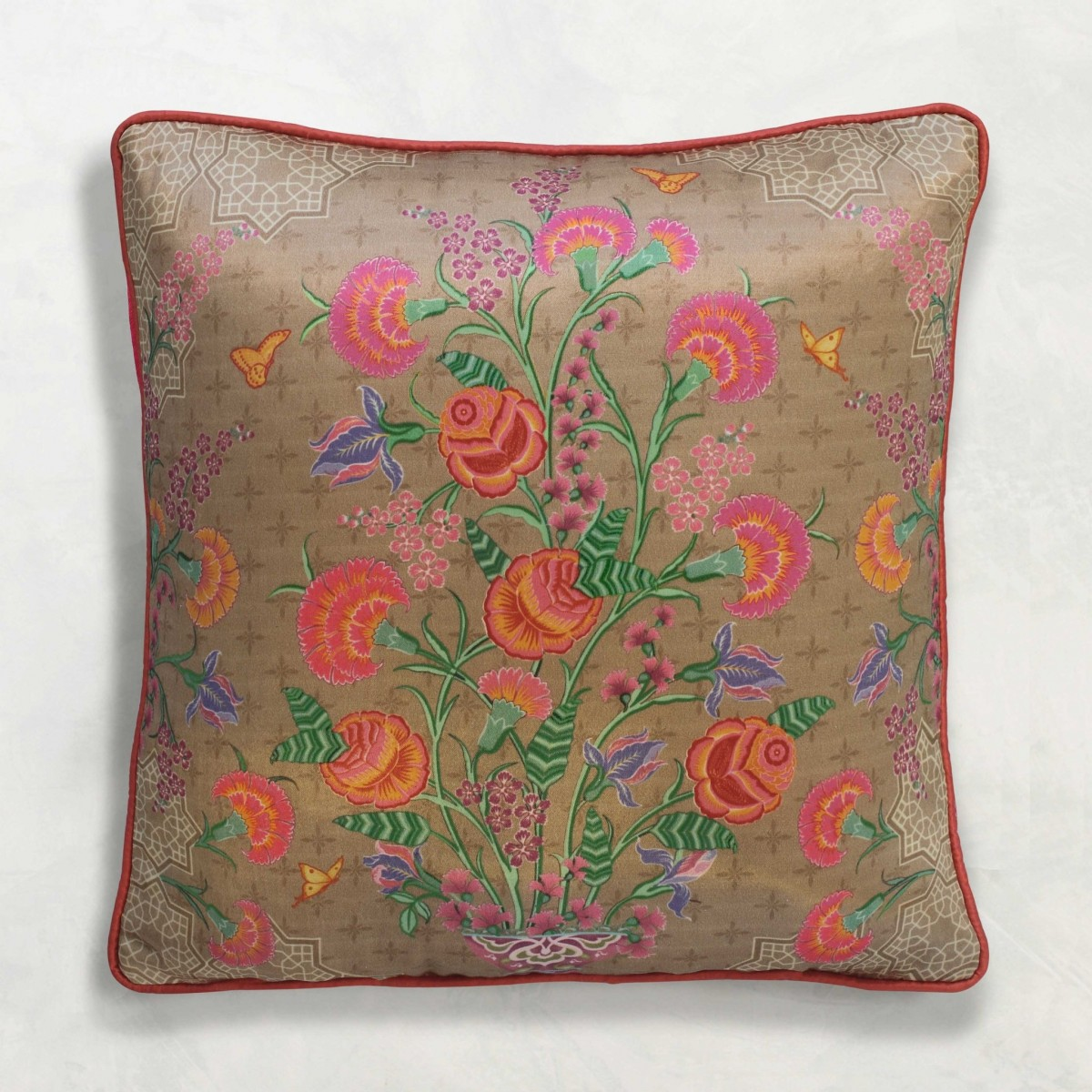 Designer Cushion Cover - Beige