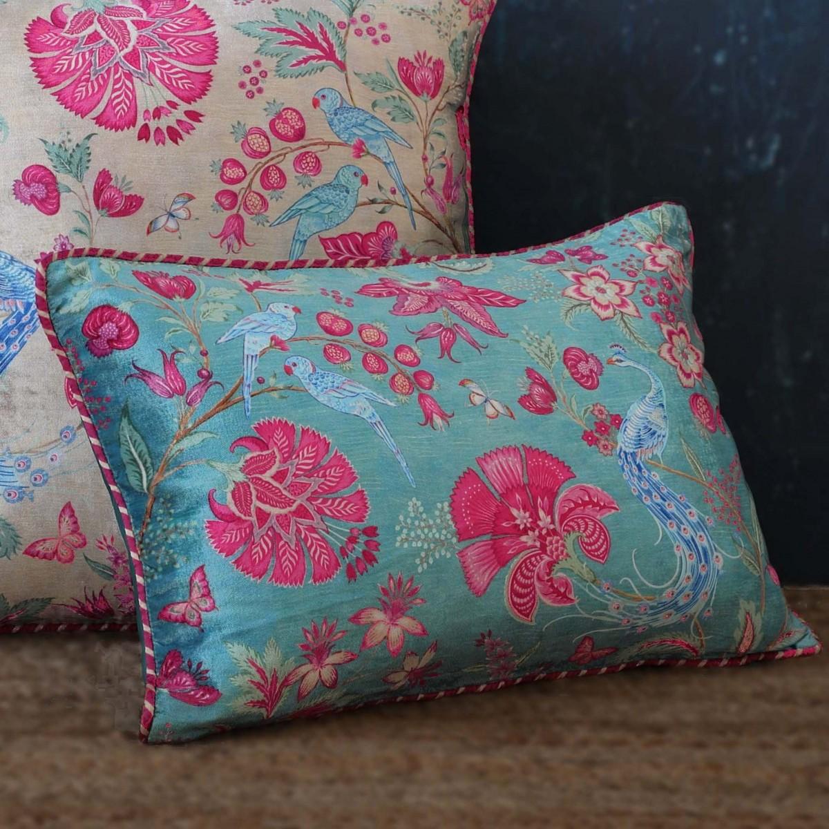 Designer Cushion Slim Cover - Aqua