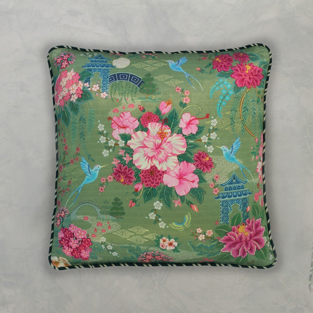 Designer Cushion Cover - Moss Green