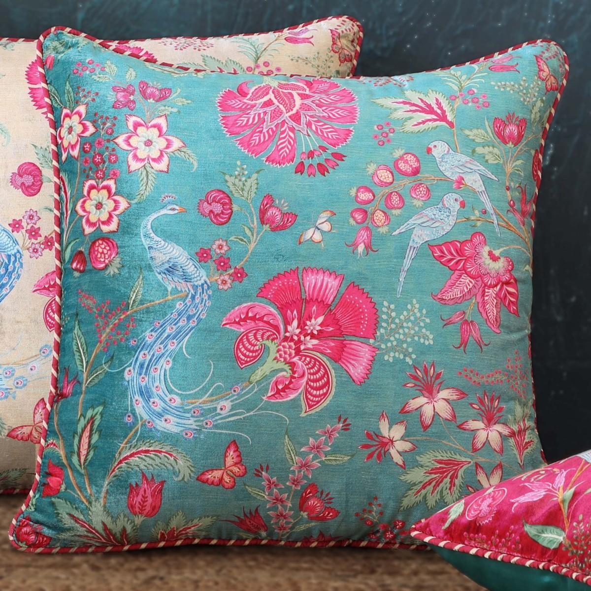 Designer Cushion Cover - Aqua