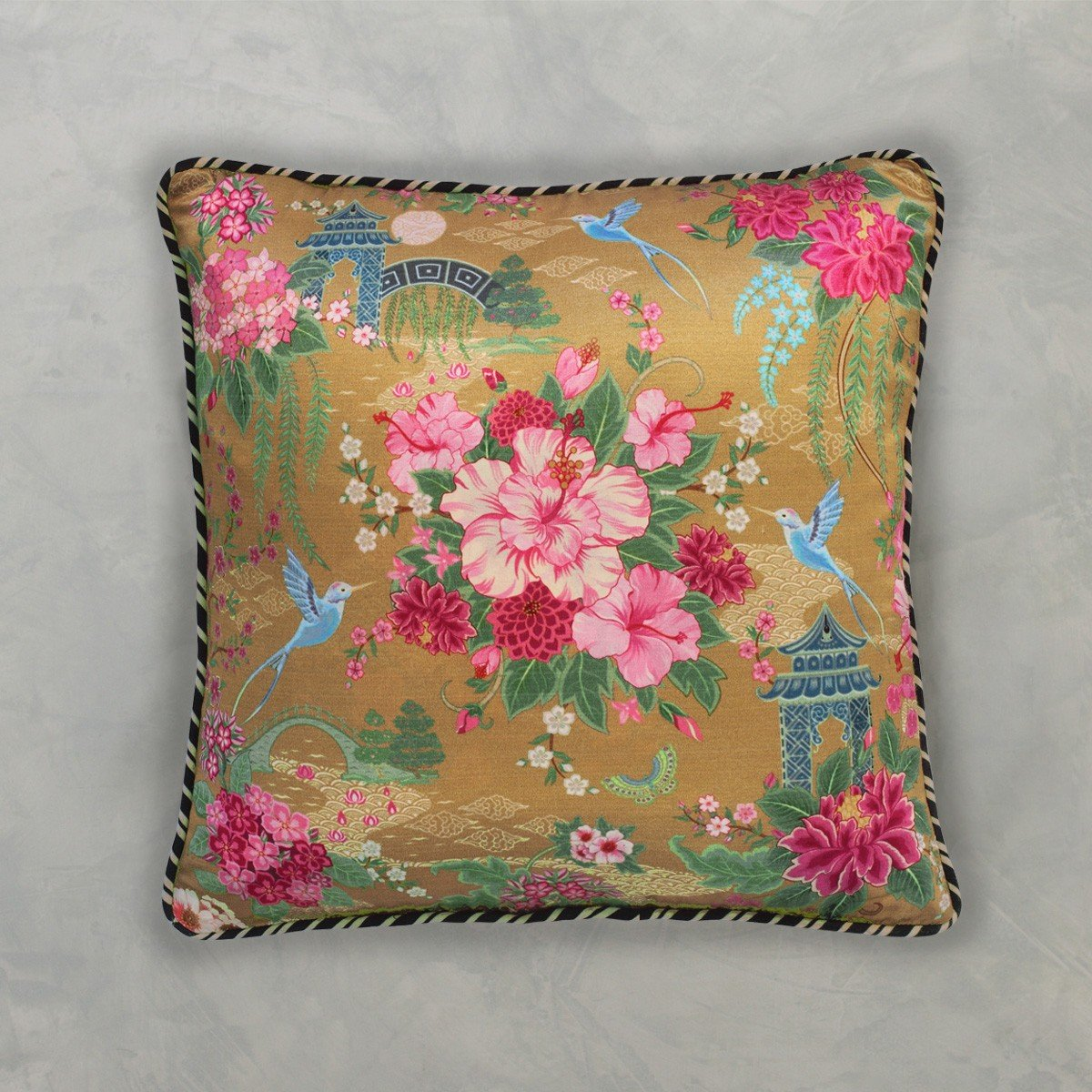 Designer Cushion Cover - Gold