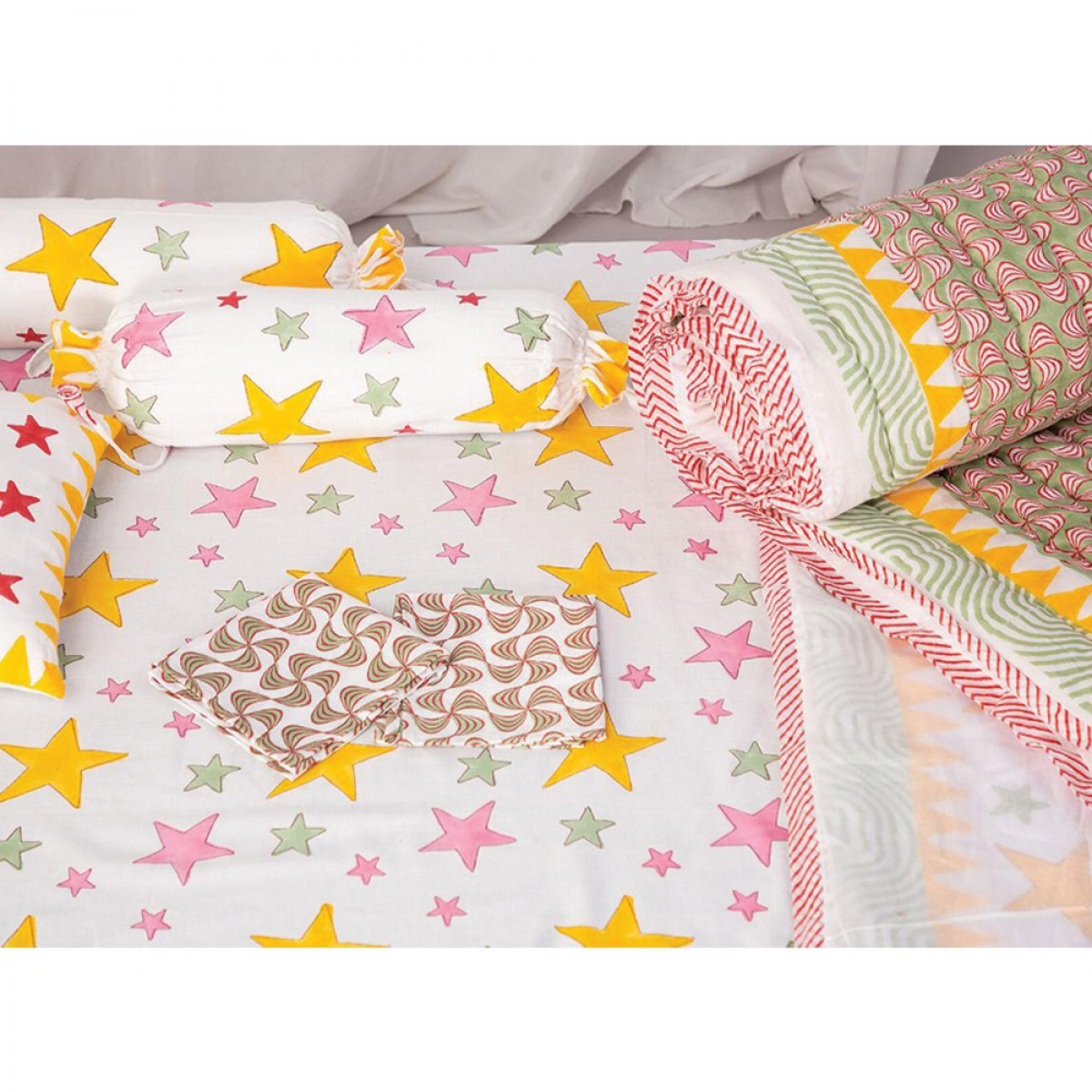 Baby Quilts Set - Multi Star ( set of 6 )