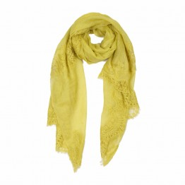 Lace Sheer Pashmina Scarf - Lime Green