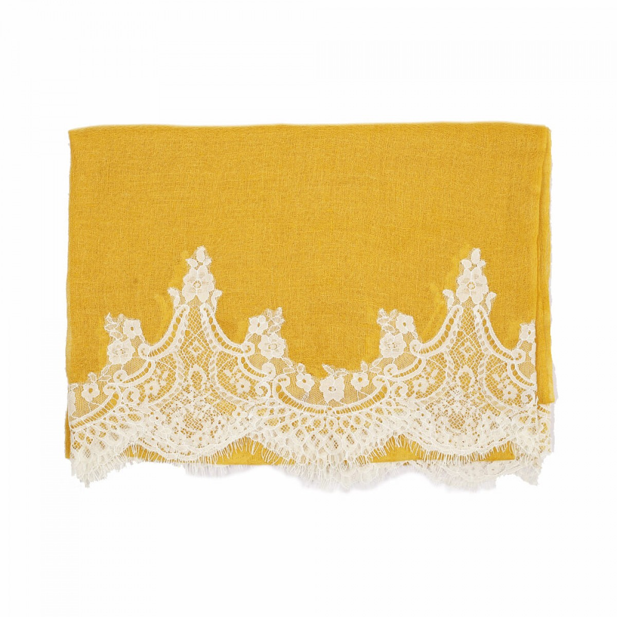 Lace Sheer Pashmina Scarf - Honey