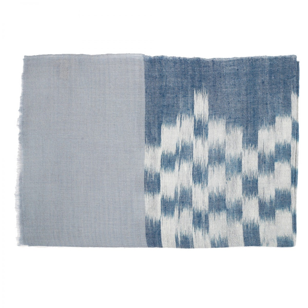 Men's Cashmere Pashmina Scarf - Natural Light Blue