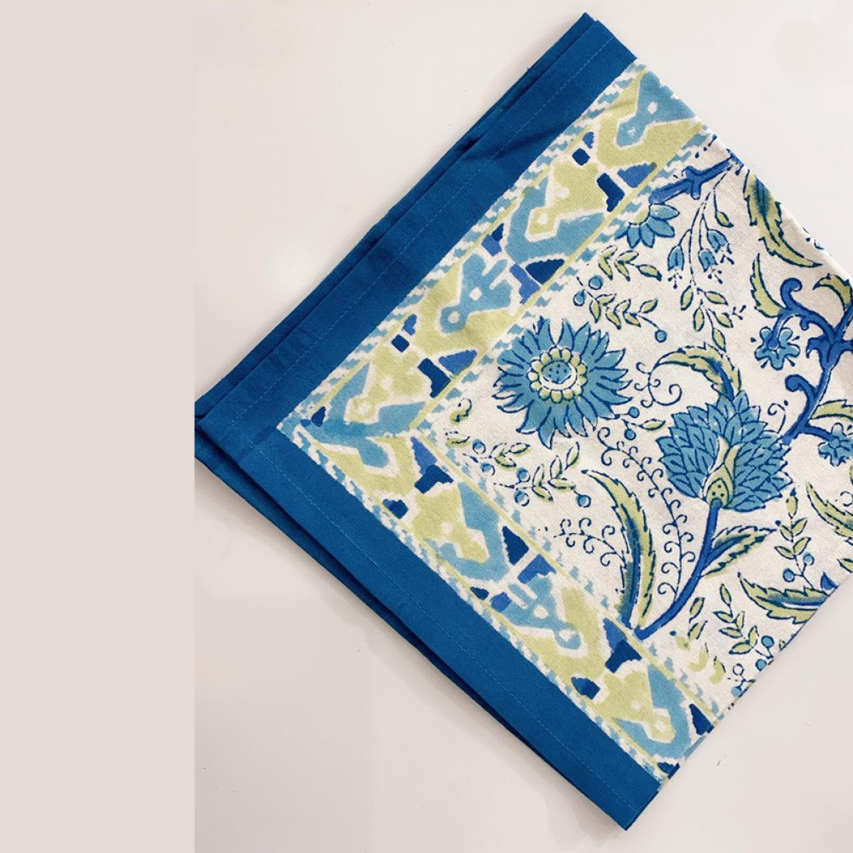 Cotton Printed Napkin - Blue (Set of 6)