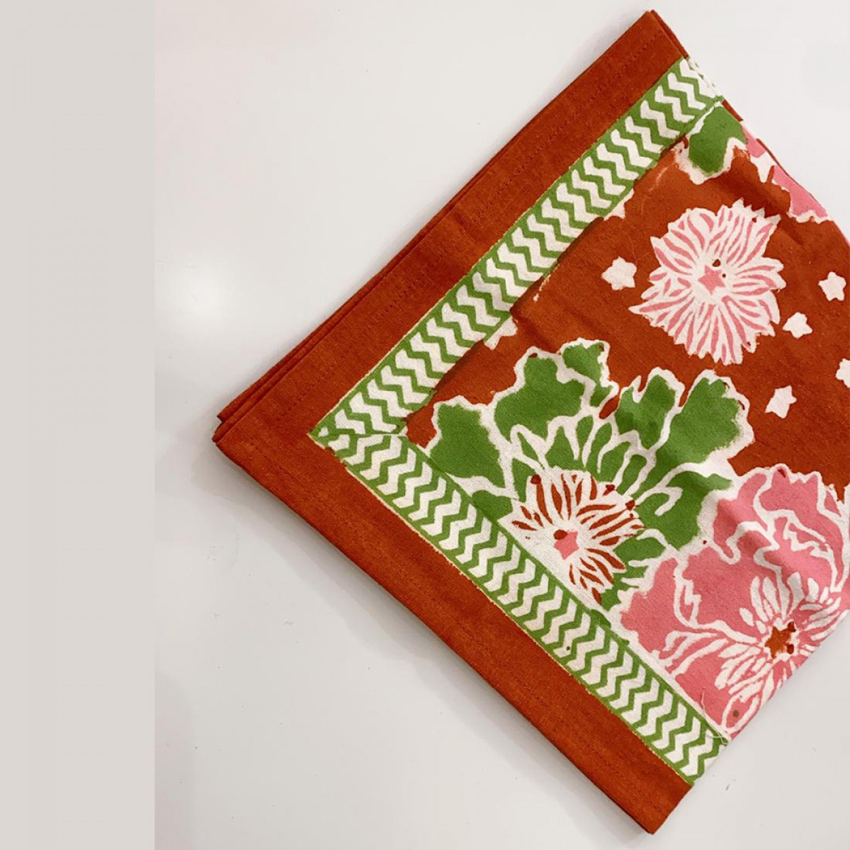 Cotton Printed Napkin - Red & Multi (Set of 6)