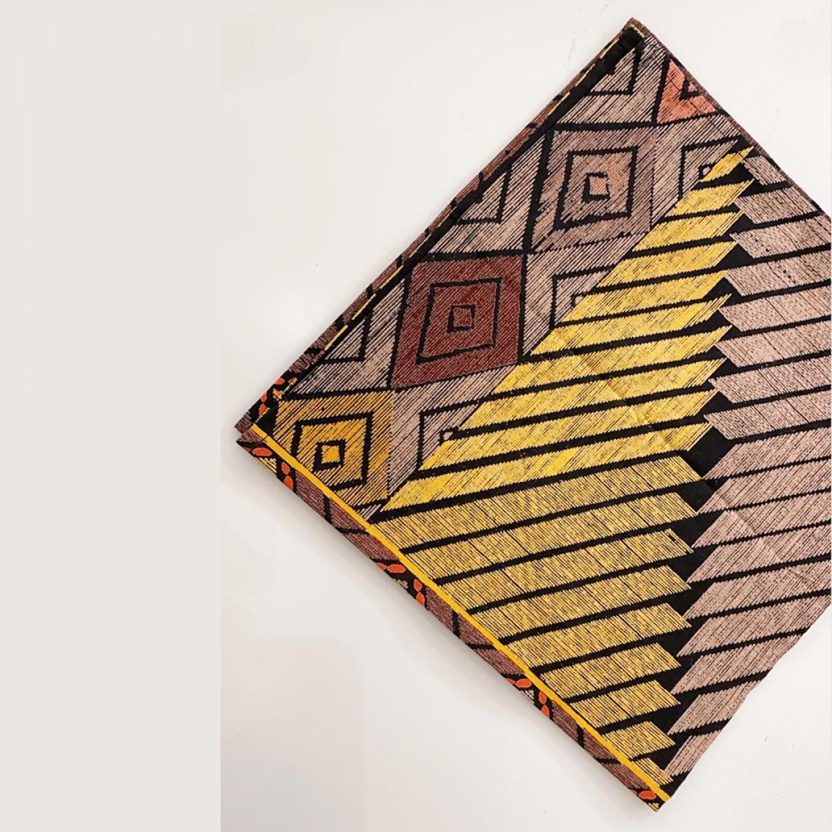 Cotton Printed Napkin - Yellow ( Set of 6 )