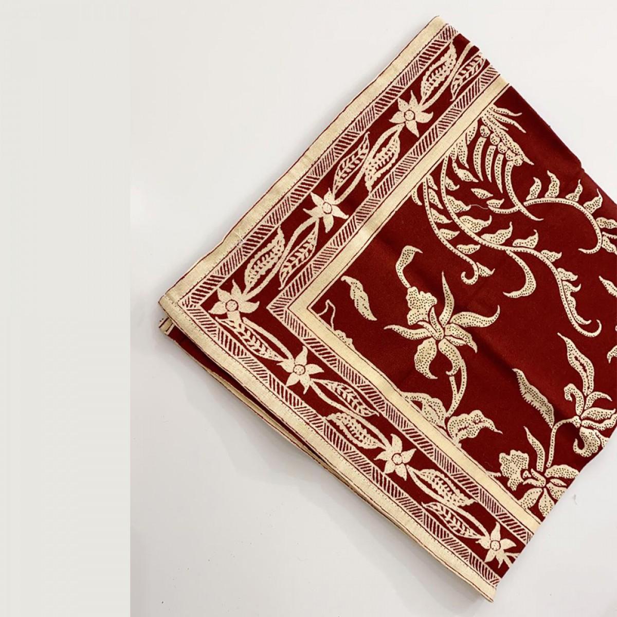 Cotton Printed Napkin - Maroon (Set of 6)