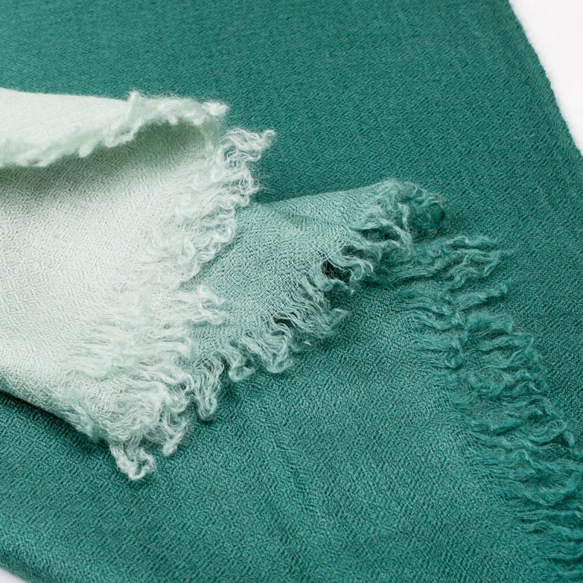 Ombre Pashmina Stole - Pine Green
