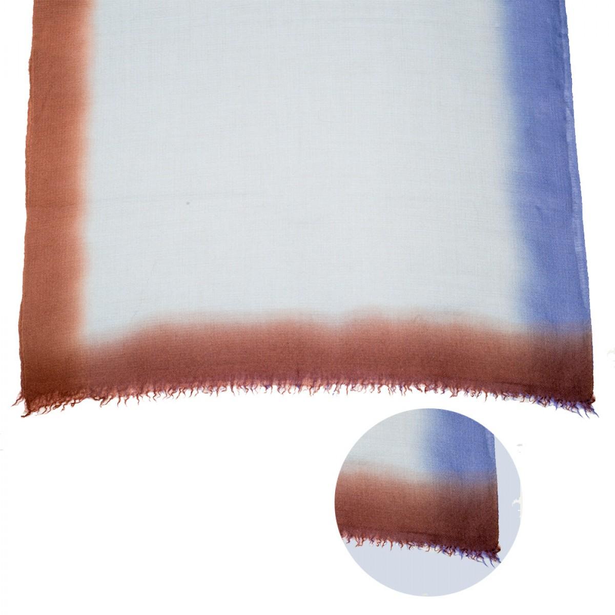 Ombre Pashmina Stole - Sky Blue & Brown