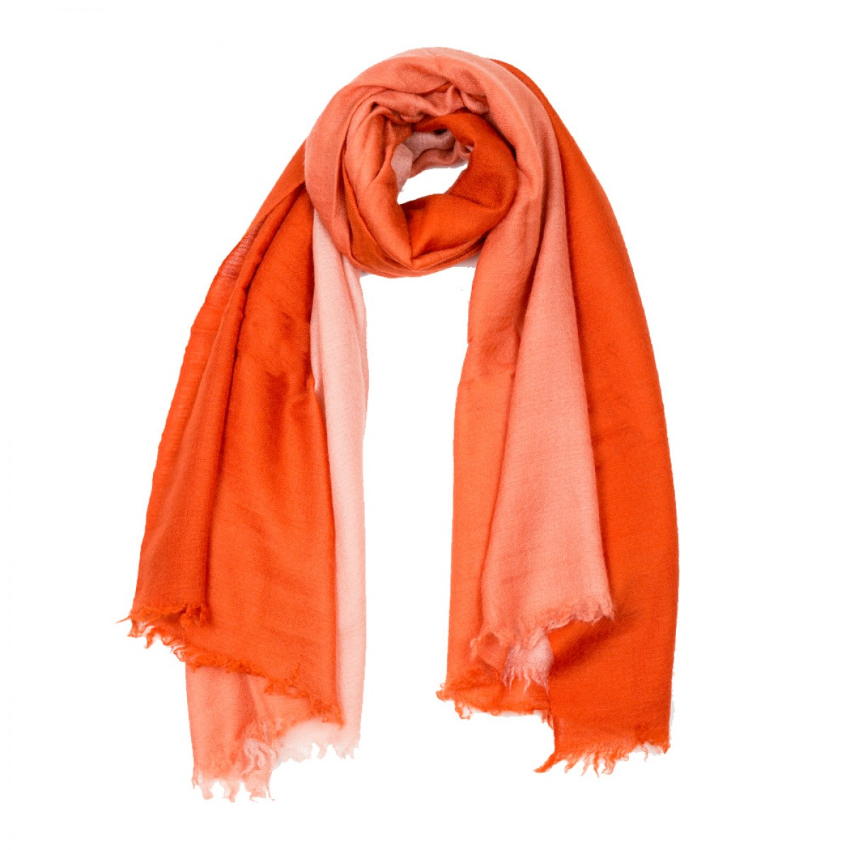 Ombre Pashmina Stole - Red & Orange