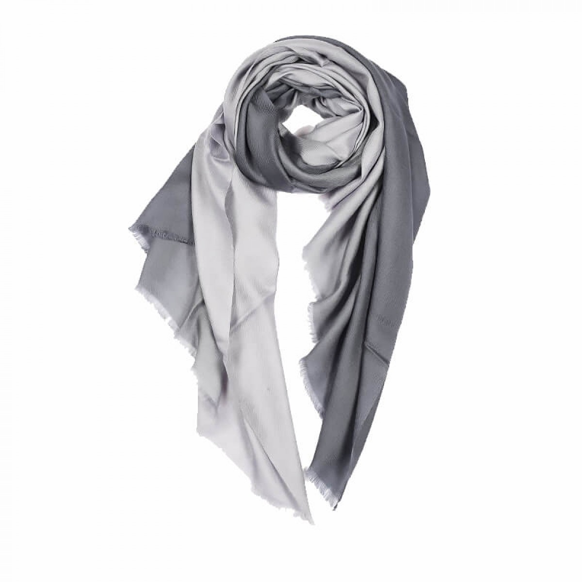 Ombre Pashmina Stole - Grey