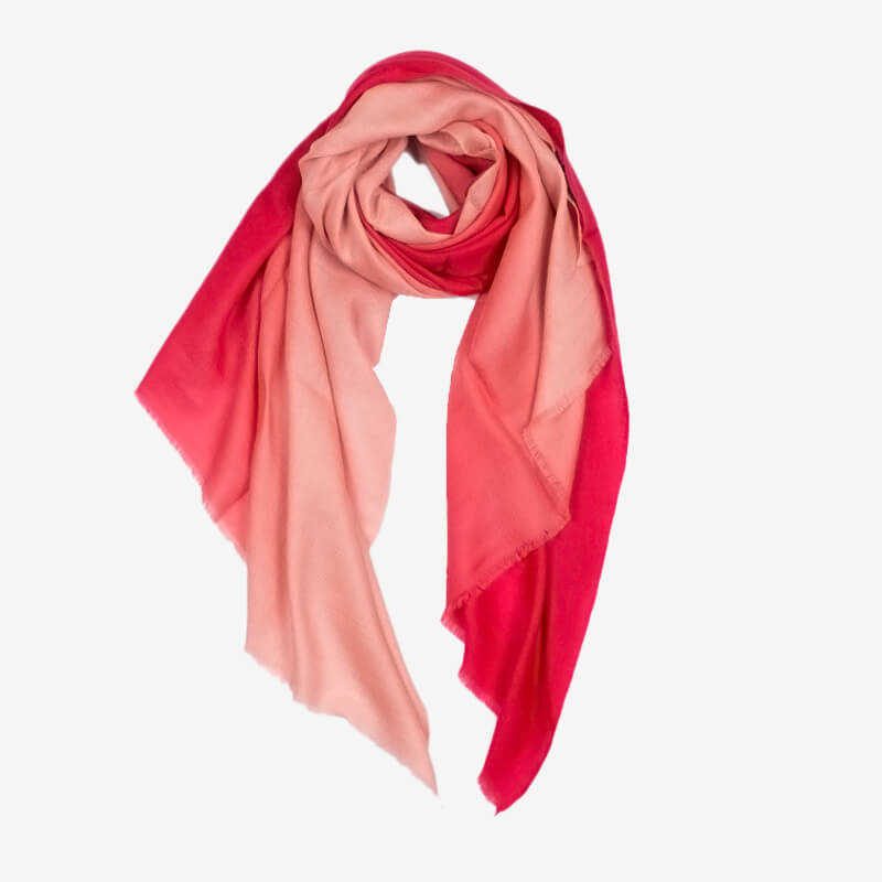 Ombre Pashmina Stole - Red