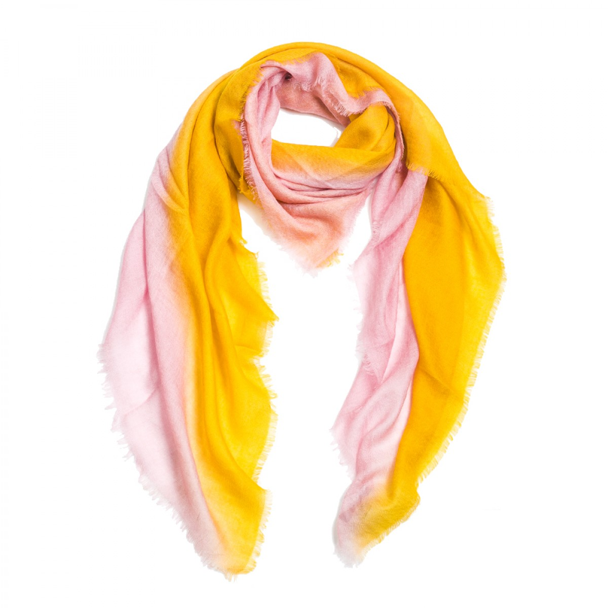 Ombre Pashmina Stole - Bessie Amber Yellow