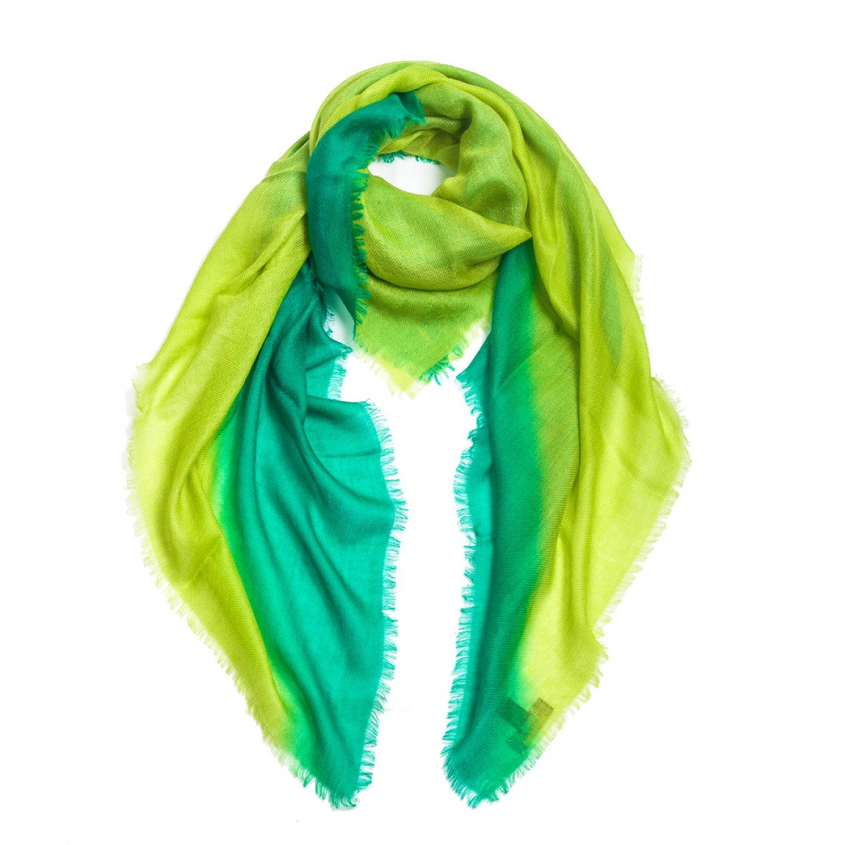 Ombre Pashmina Stole - Angela Emerald Green