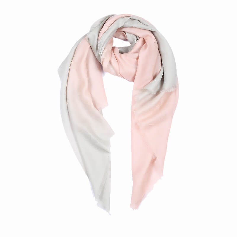 Ombre Pashmina Stole - Pink & Grey