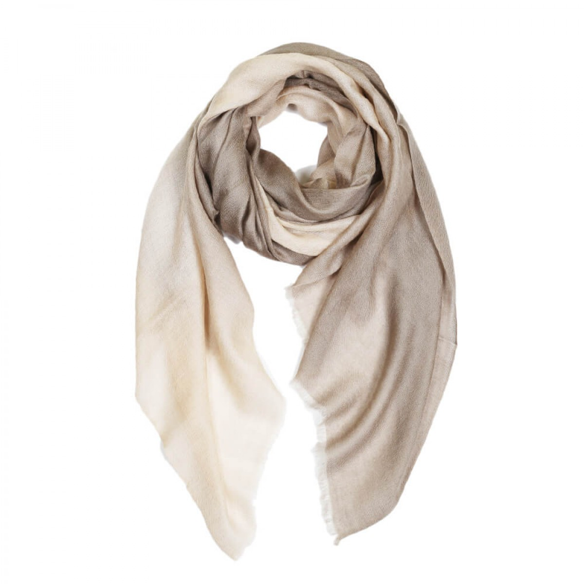 Ombre Pashmina Stole - Taupe