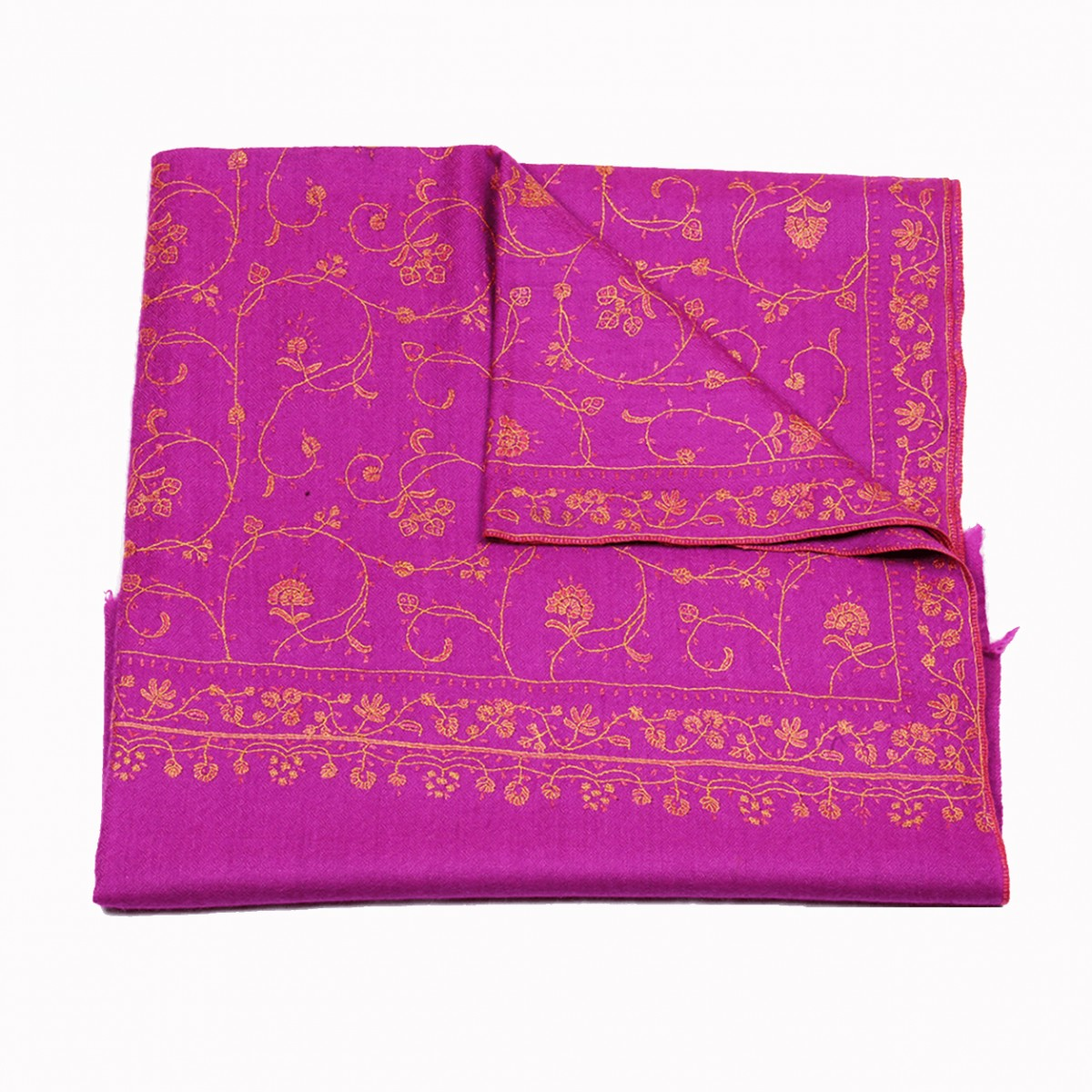 Embroidery handloom pashmina-orchid
