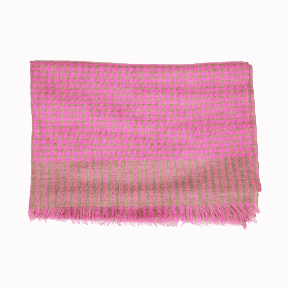 Elias natural and pink pashmina stole