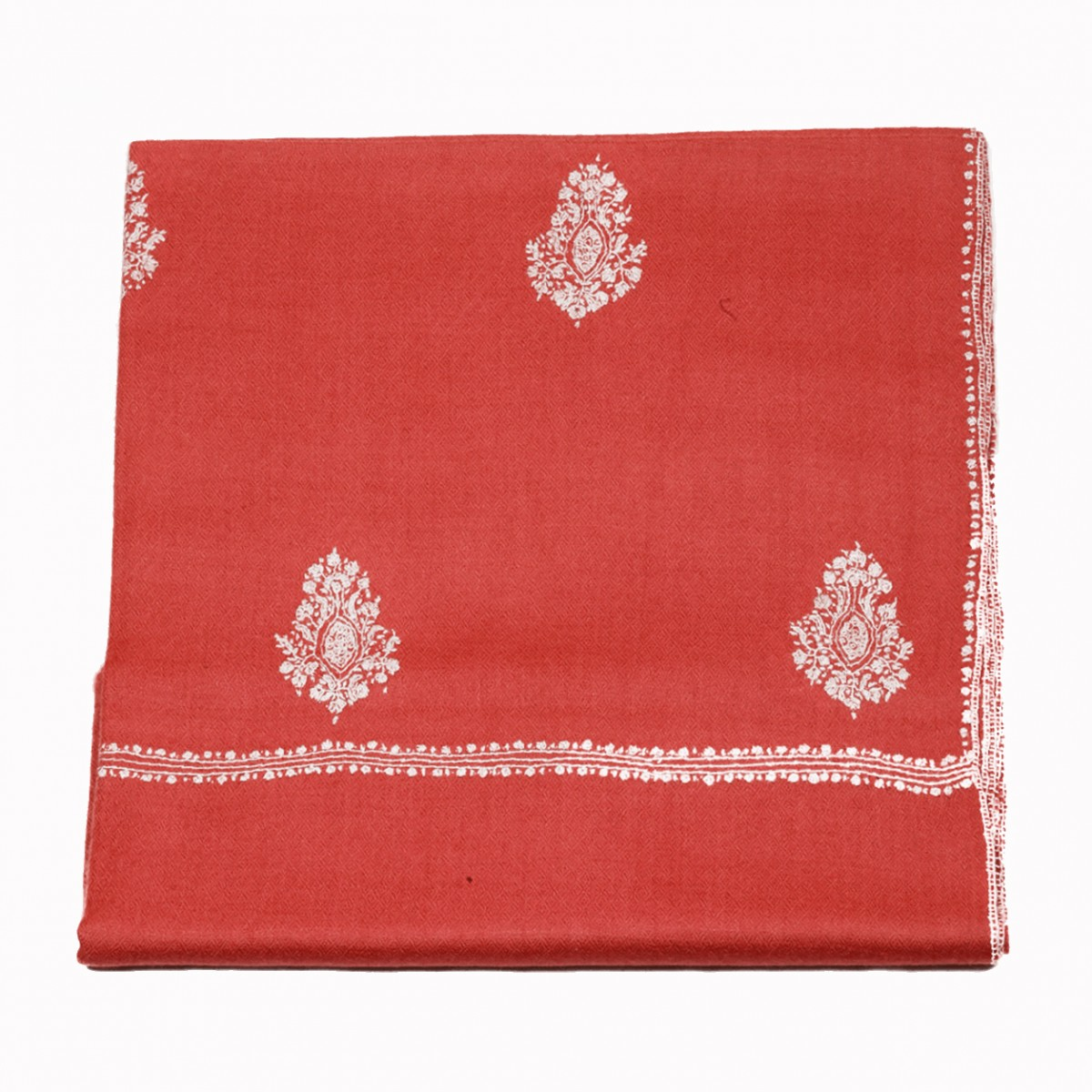 Embroidery handloom pashmina-rouge
