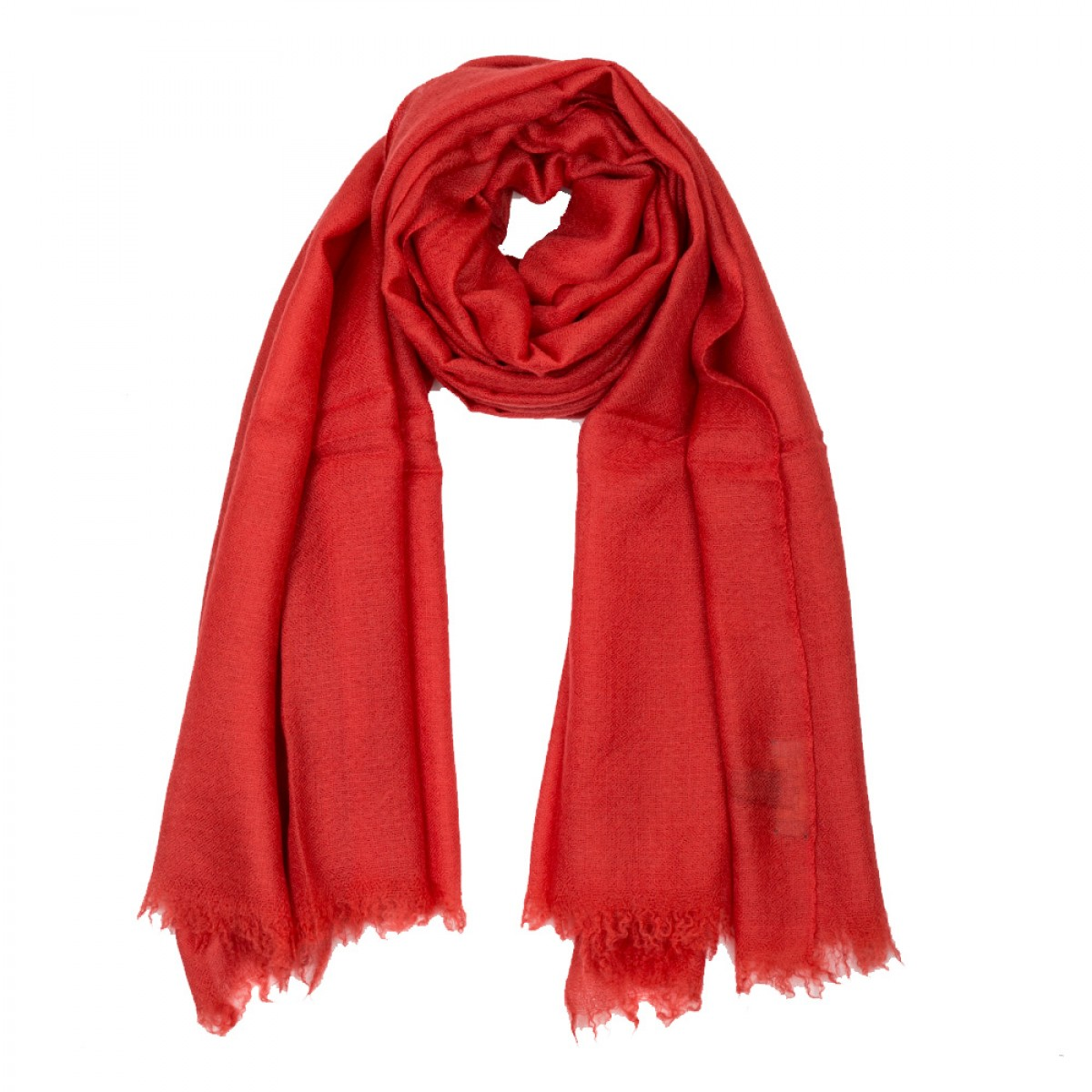 Plain Pashmina Stole - Crimson Red