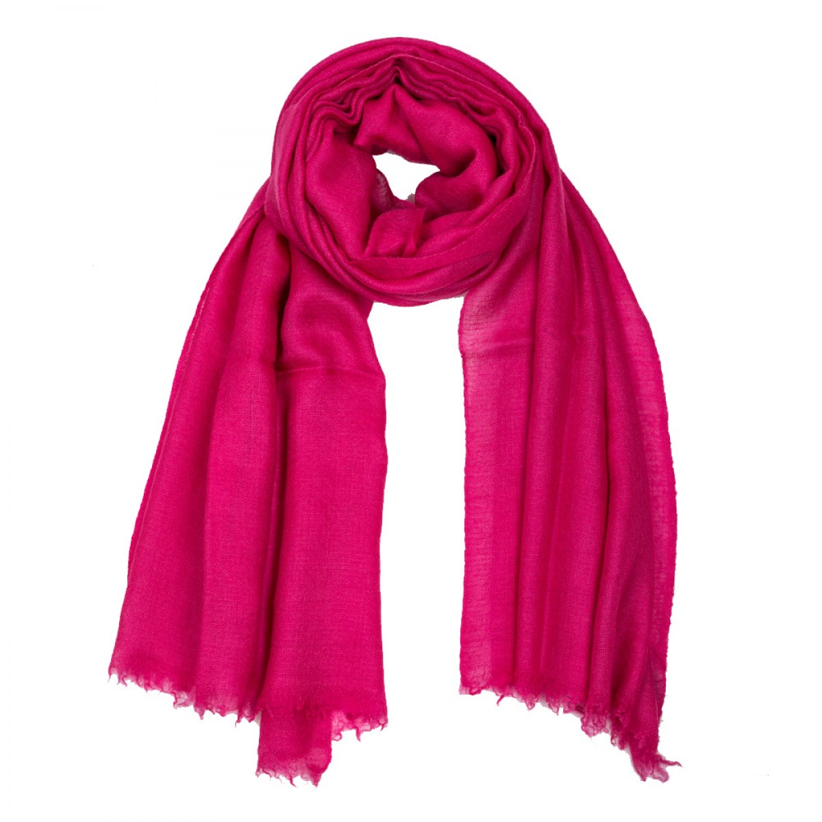Plain Pashmina Stole - Hot Pink