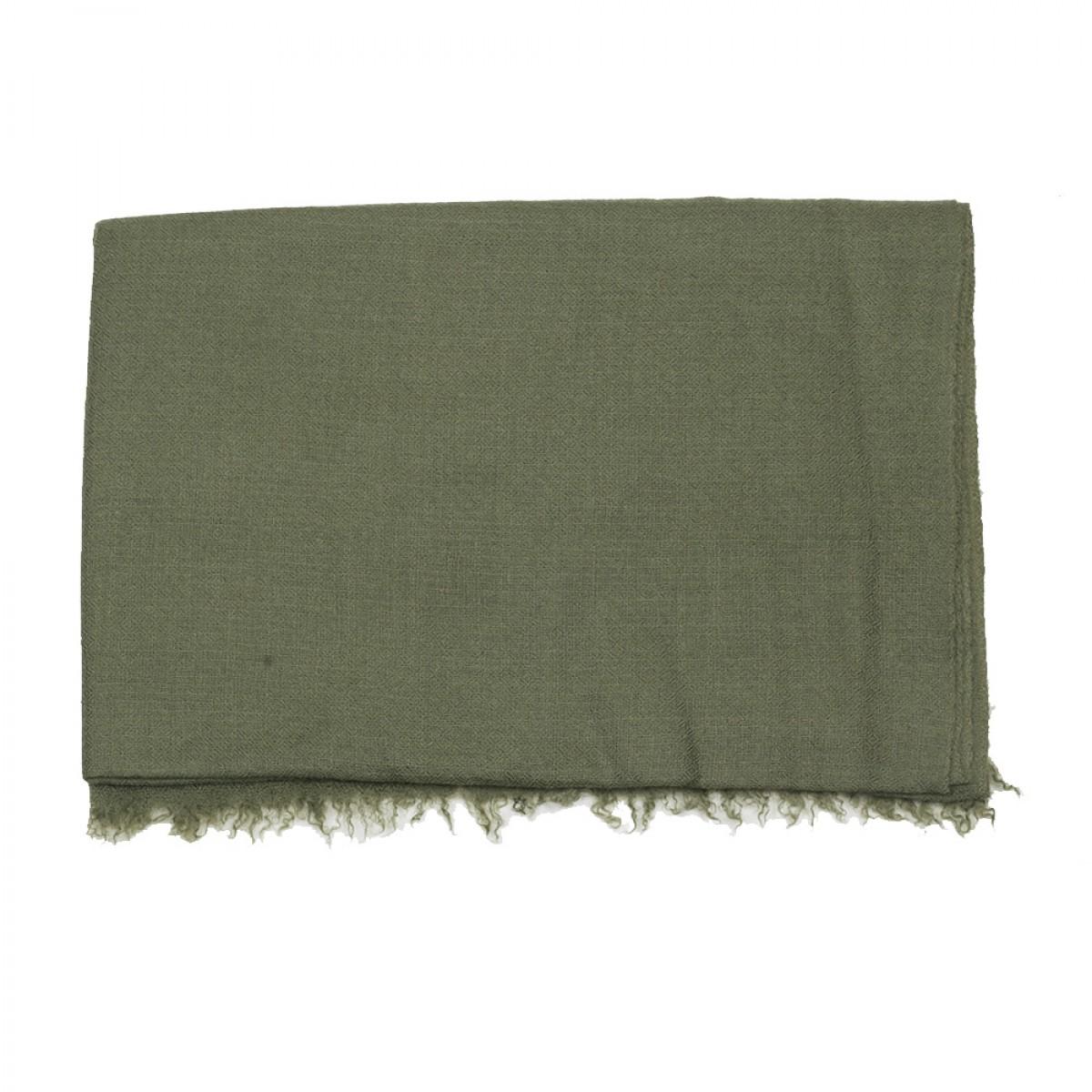 Plain Pashmina Stole - Khaki Green