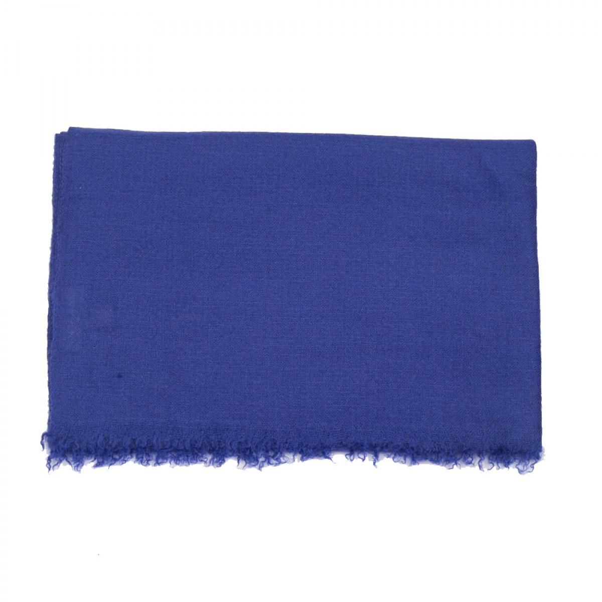 Plain Pashmina Stole - Navy Blue