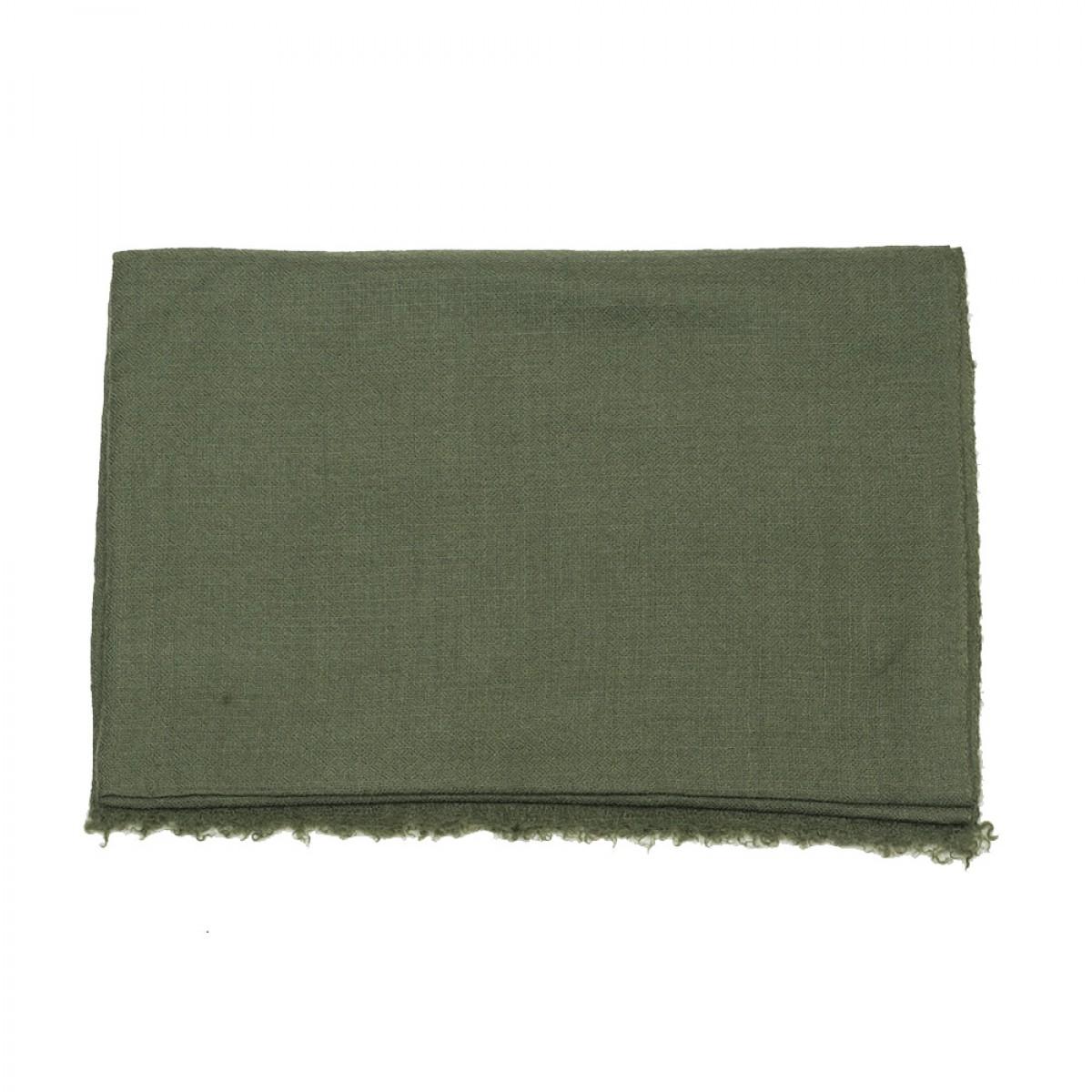 Plain Pashmina Stole - Army Green