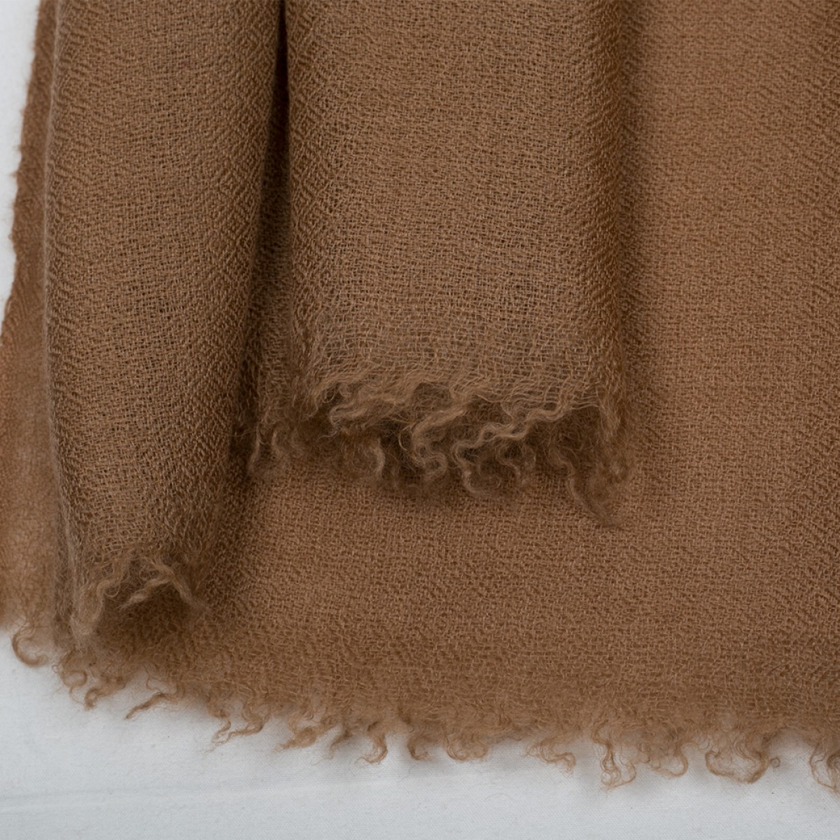 Plain Pashmina Stole - Tawny Brown