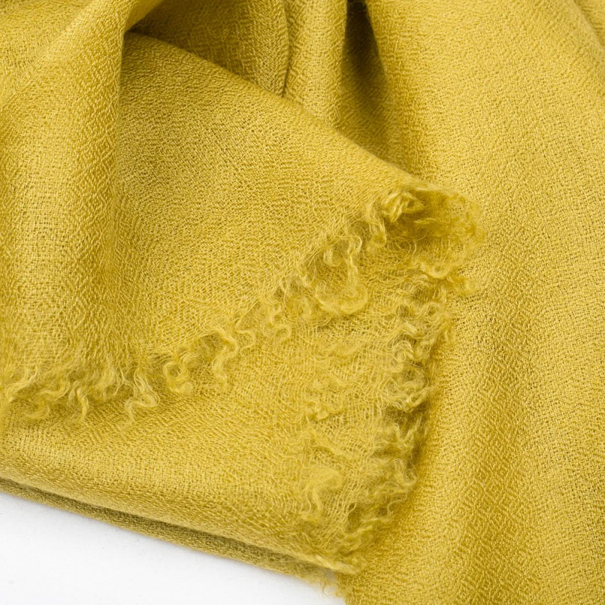 Plain Pashmina Stole - Yellow Olive