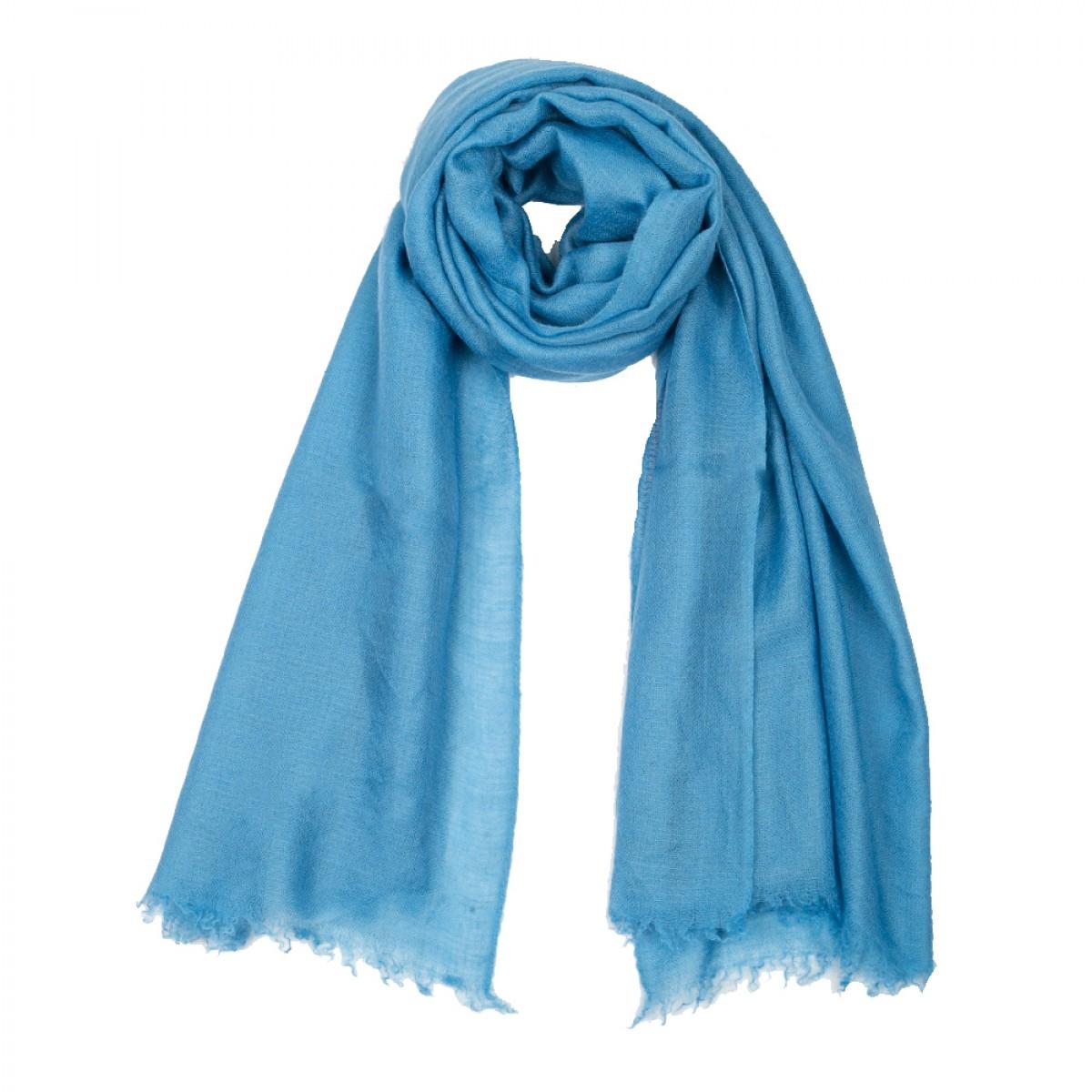 Plain Pashmina Stole - Cornflower Blue