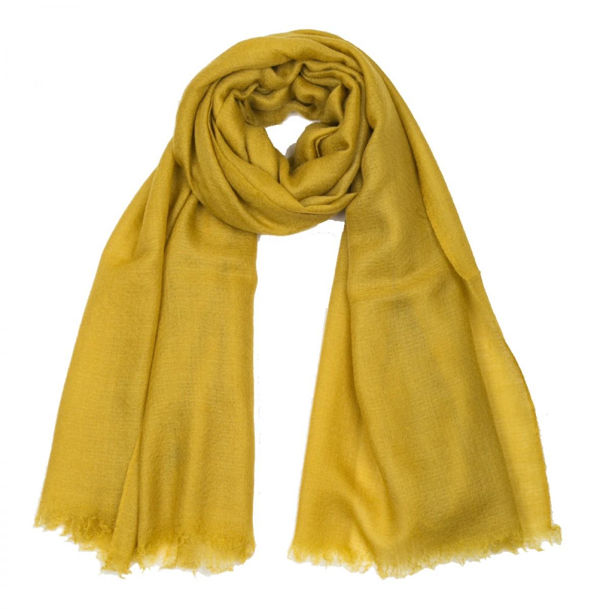 Plain Pashmina Stole - Mustard Yellow
