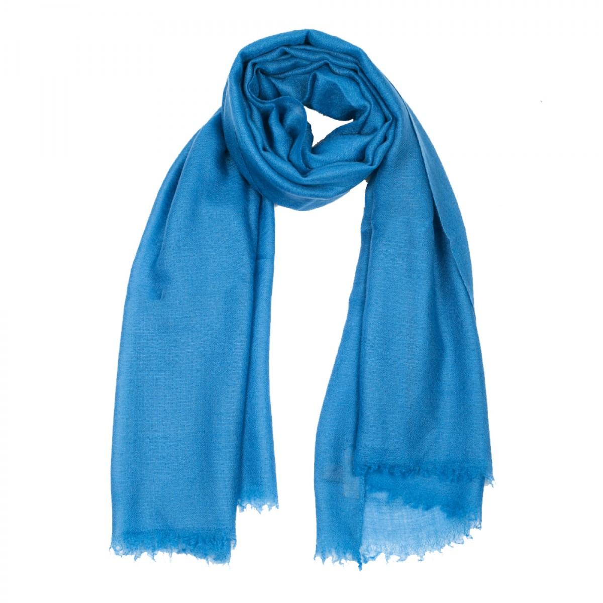 Plain Pashmina Stole - Yale Blue