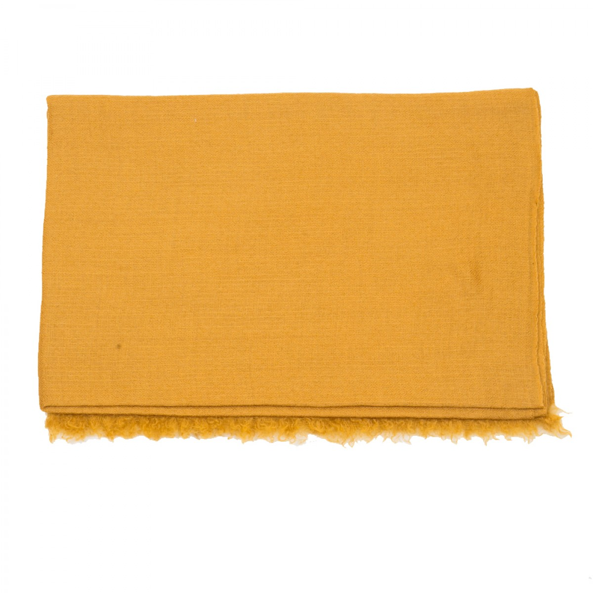 Plain Pashmina Stole - Ochre Brown