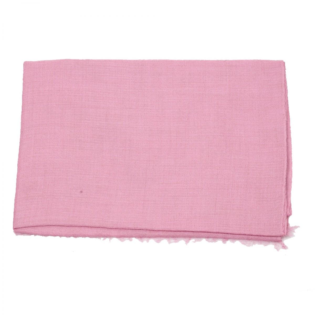 Plain Pashmina Stole - Pink Lemonade