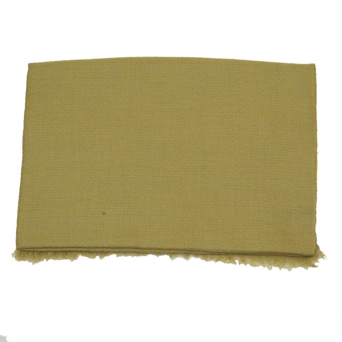 Plain Pashmina Stole - Olive Green