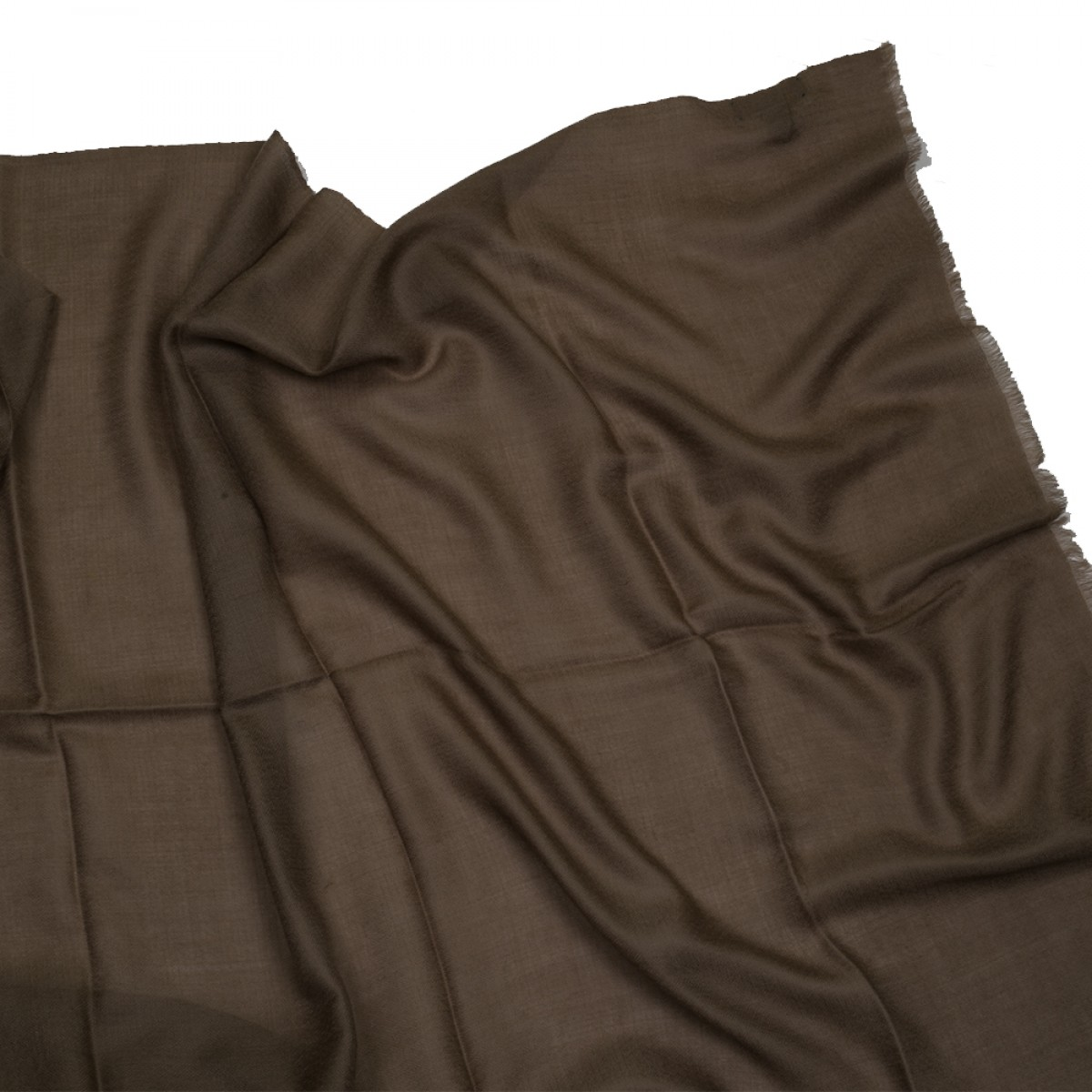 Plain Pashmina Stole - Dark Brown