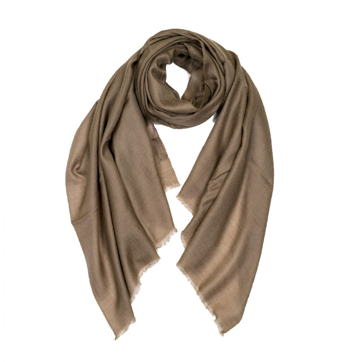 Plain Pashmina Stole - Dark Grey