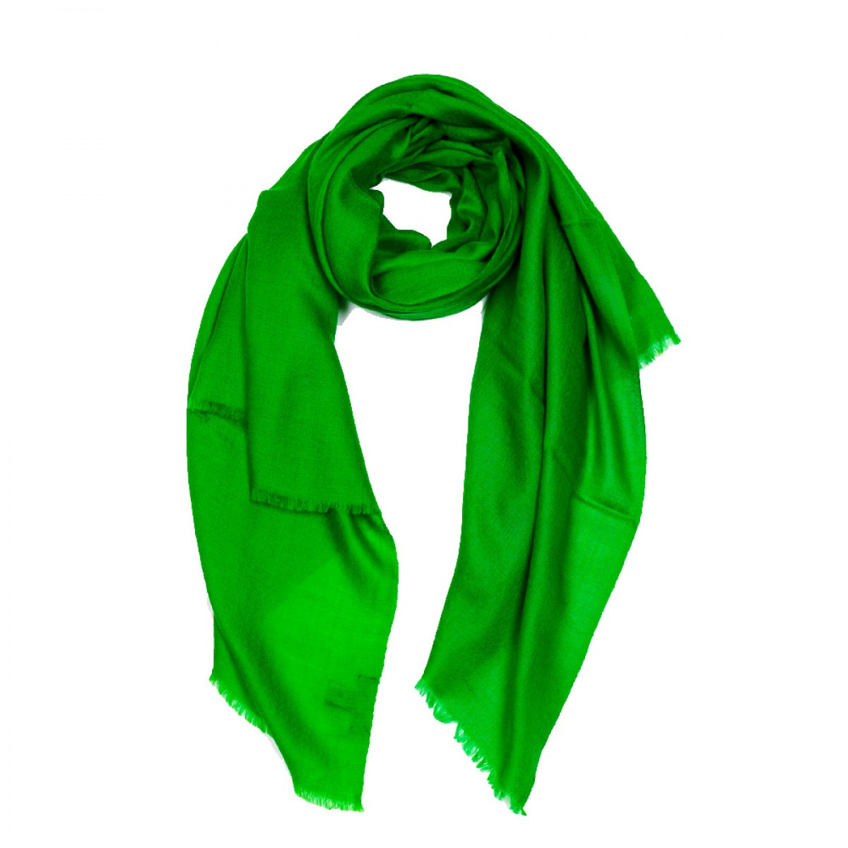 Plain Pashmina Stole - Emerald Green