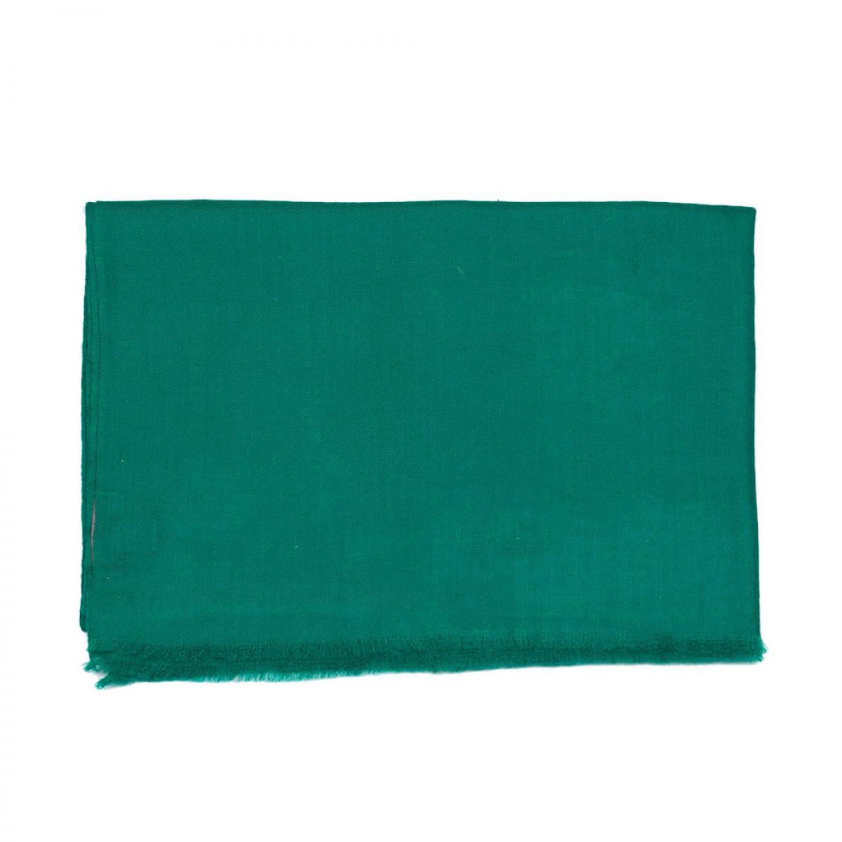Plain Pashmina Stole- Peacock Green
