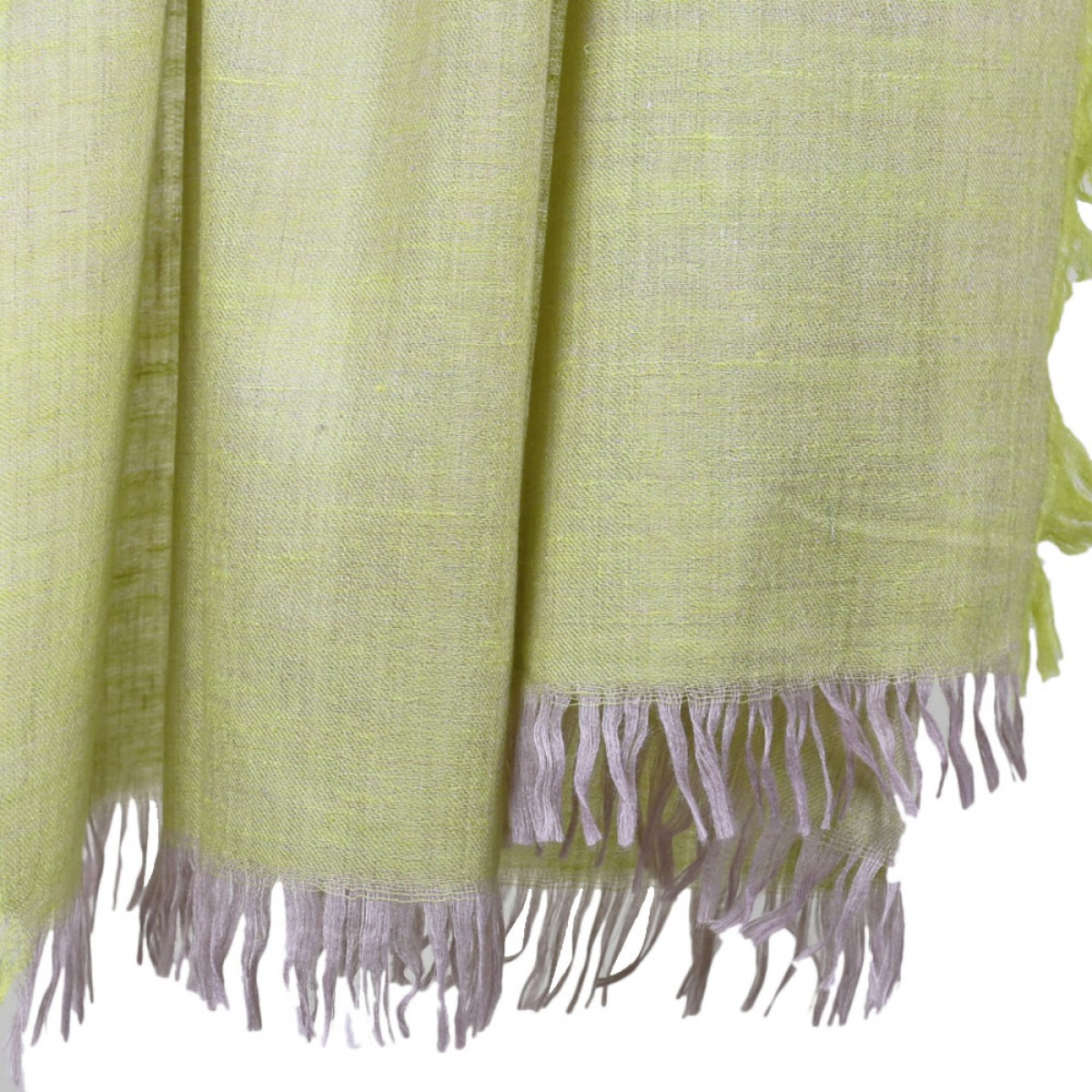 Plain Square Reversible Pashmina Scarf- Neon Lime Green