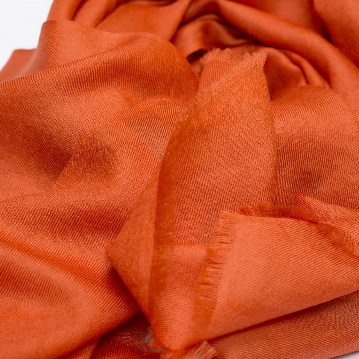 Plain Pashmina Stole - Orange
