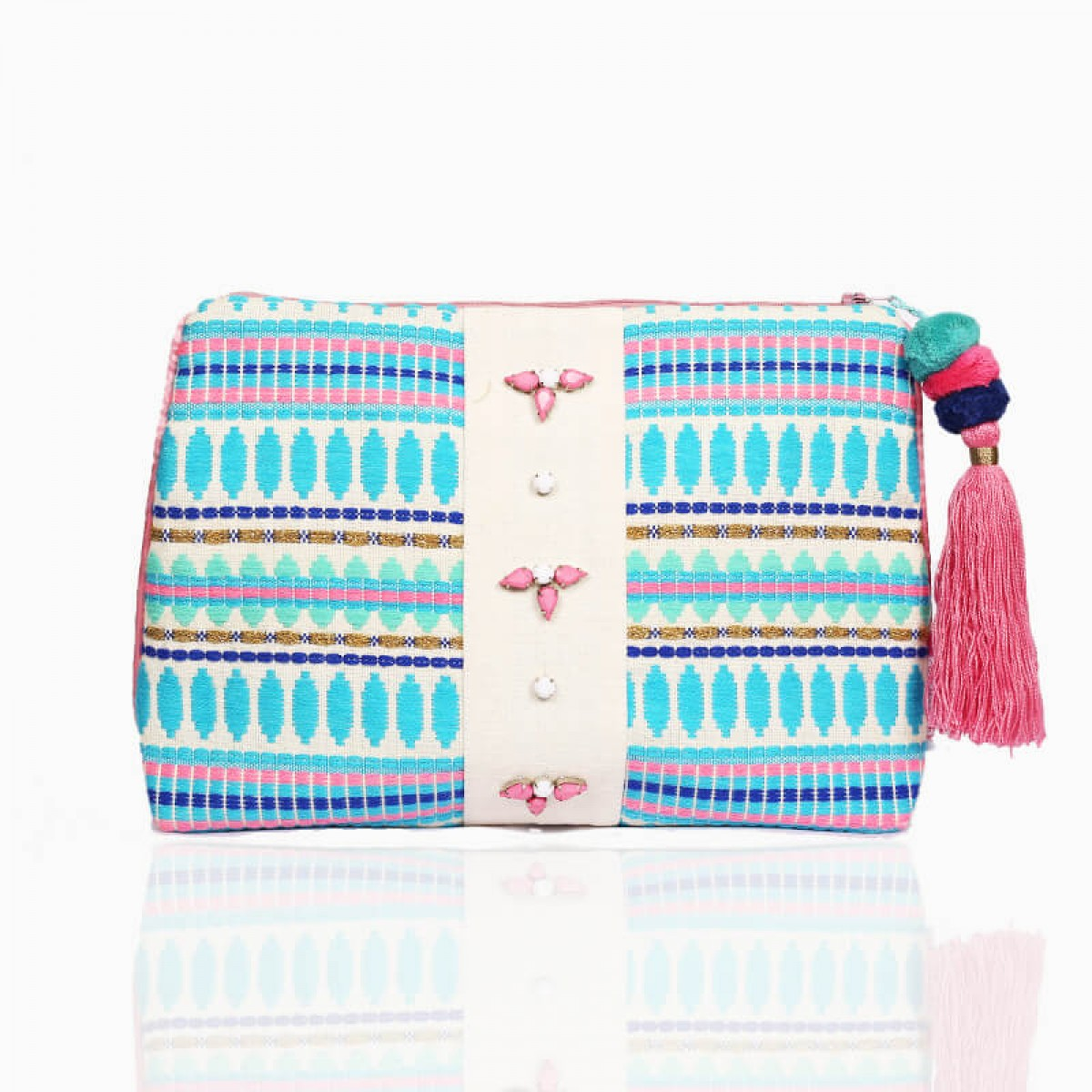 Forever Summer Pouch - Cyan Blue