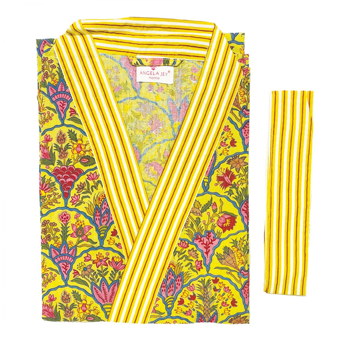 Printed Bathrobe - Yellow