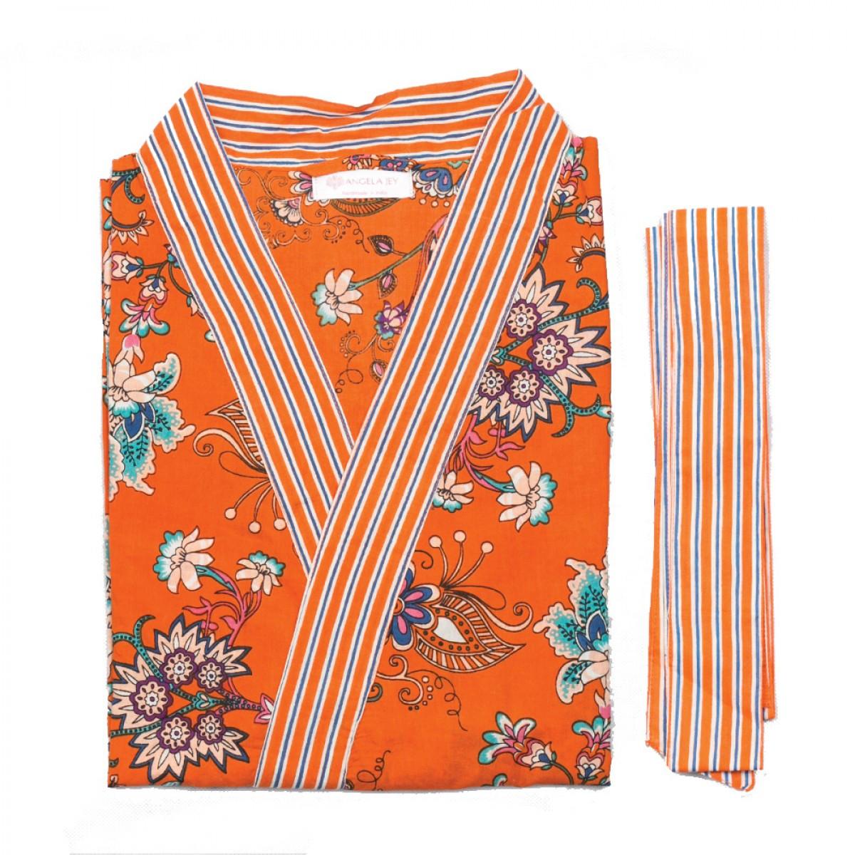 Printed Bathrobe - Orange