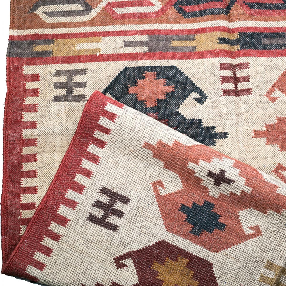 Jute Kilim Floor Rugs - Beige