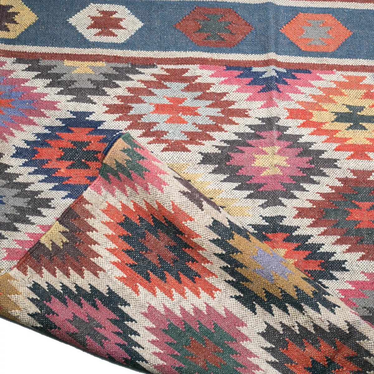Jute Kilim Floor Rugs - Multi Colour
