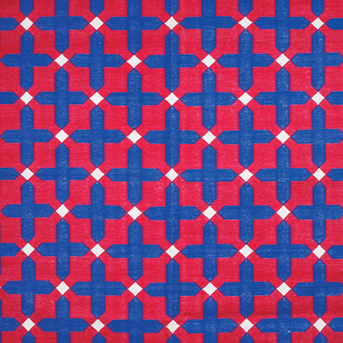 Area Rugs - Navy Blue & Red